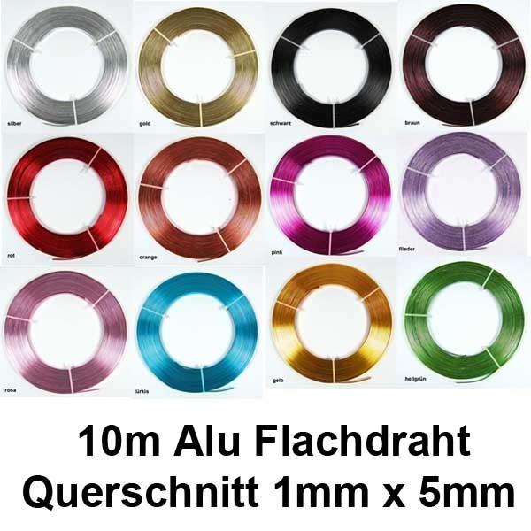 Aluflachdraht Aludraht flach Alu Draht Flachdraht 5mm x 10m 130g   eBay
