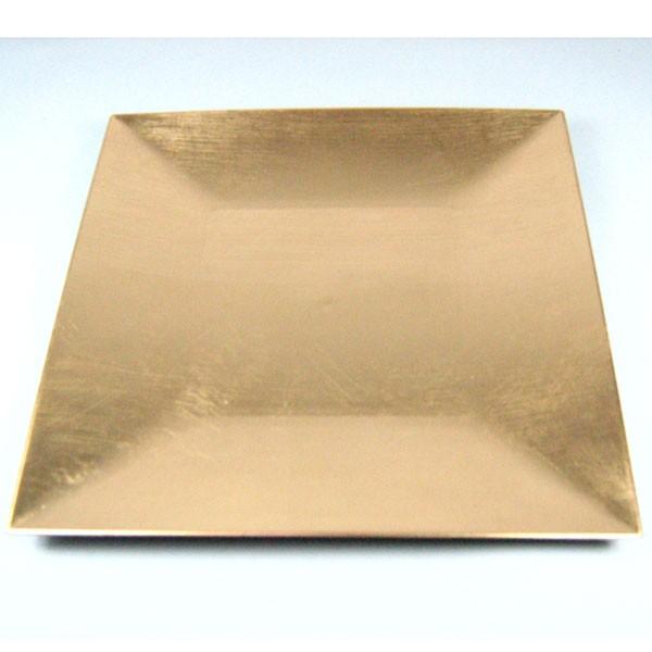 Dekoteller teller platzteller kunststoff eckig 27 x 27cm m 7cm gebogenem rand ebay - Dekoteller gold ...