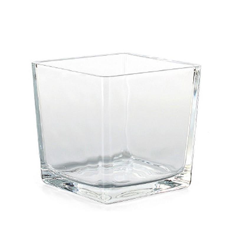 vierkantgef glas eckard quadratisch eckig pflanzgef pflanztopf topf 14cm klar floristik. Black Bedroom Furniture Sets. Home Design Ideas