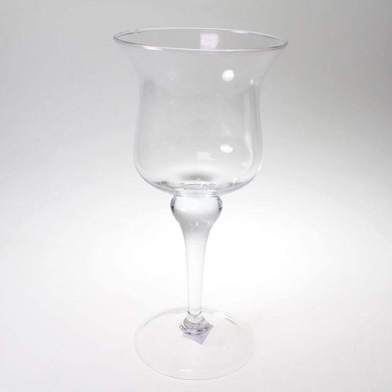 Pokal windlicht leuchter katie d 17 5cm h 39cm glas for Glaspokal deko