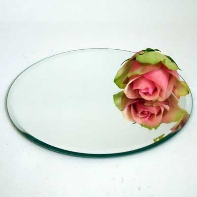 10 spiegeluntersetzer spiegel teller unterset 20cm rund floristik basteln gef e glas. Black Bedroom Furniture Sets. Home Design Ideas