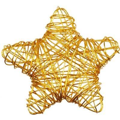 10 drahtsterne draht sterne streudeko 55mm gold advent floristik basteln dekoratives streudeko. Black Bedroom Furniture Sets. Home Design Ideas